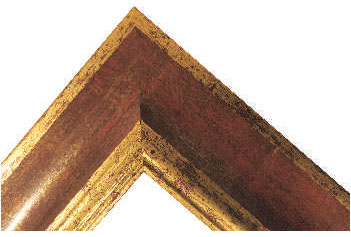poza Rame lemn Italia Auriu +Rosu
